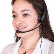 Stock Photo: Customer service girl - braces