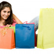 Beautiful girl with shopping bags — Stock Photo #7705450