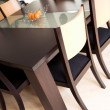 Modern dining table — Stock Photo