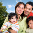 Beautiful family outdoors — Stock Photo #7705469