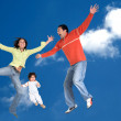 Happy family in the air — Stock Photo #7705474
