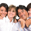 Beautiful family over white — Stock Photo