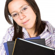 Beautiful young student — Stock Photo