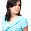 Stock Photo: Casual Female Portrait - cyan
