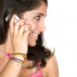 Stock Photo: Beautiful girl talking on the phone