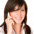 Beautiful girl talking on the phone — Stock Photo #7705684