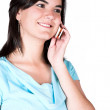 Beautiful girl on the phone — Stock Photo #7705692