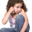 Cute girl on a cellphone — Stock Photo #7705693