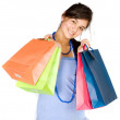Beautiful teenager with shopping bags — Stock Photo #7705760
