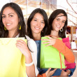 Girls in a shopping spree — Stock Photo