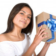 Girl with a gift — Stock Photo #7705813