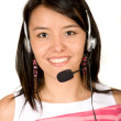 Beautiful Customer Support Girl — Stock Photo
