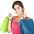 Girl with shopping bags — Foto de Stock