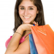 Royalty-Free Stock Photo: Beautiful teenager with shopping bags