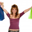 Girl with shopping bags — Stock Photo #7705884