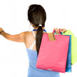 Beautiful teenager with shopping bags — Stock Photo #7705887