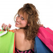 Beautiful girl with shopping bags — Stock Photo #7705891