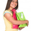 Beautiful latin girl shopping — Stock Photo #7705897
