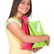 Beautiful latin girl shopping — Stock Photo