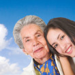 Happy grand mother with her grand daughter — Stock Photo #7705902