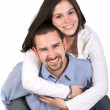 Stock Photo: Couple having fun
