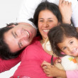 Foto Stock: Happy latin american family