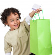 Royalty-Free Stock Photo: Happy kid with his present