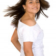 Beautiful fun girl portrait - Stok fotoğraf