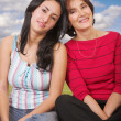 Mother and daughter outdoors — Foto de stock #7705958