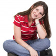 Casual Female Portrait — Stock Photo