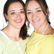 Casual happy sisters — Stock Photo