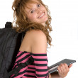 Stock Photo: Beautiful student - I love my studies!
