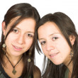 Beautiful twin sisters — Stock Photo