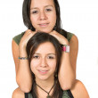 Beautiful twin sisters — Stock Photo #7706088