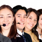 Big customer service team — Stock Photo