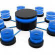 3d database structure - Stock Photo