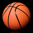 Basketball on black — Stock Photo