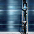 Stock Photo: Corporate ladder - blue version