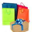 Shopping bags in bright colours — Stock Photo