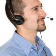 Business customer service guy — Stock Photo