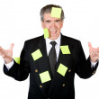Busy business man - Stock Photo