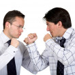 Angry business men fighting - Stock Photo