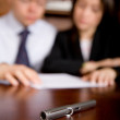 Stock Photo: Business contract