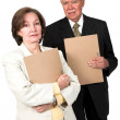 Stock Photo: Business couple - seniors