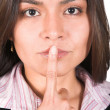 Business silence - latin american - Stock Photo