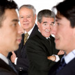 Royalty-Free Stock Photo: Business team - new vs experienced