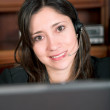 Business customer service girl - Foto Stock