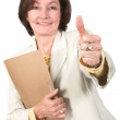 Business success - thumbs up - Zdjęcie stockowe