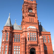 Pierhead building - cardiff bay - Stock Photo