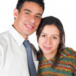 Casual couple over white — Foto de stock #7706507